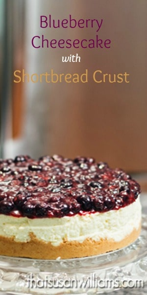 Blueberry Cheesecake with Shortbread Crust