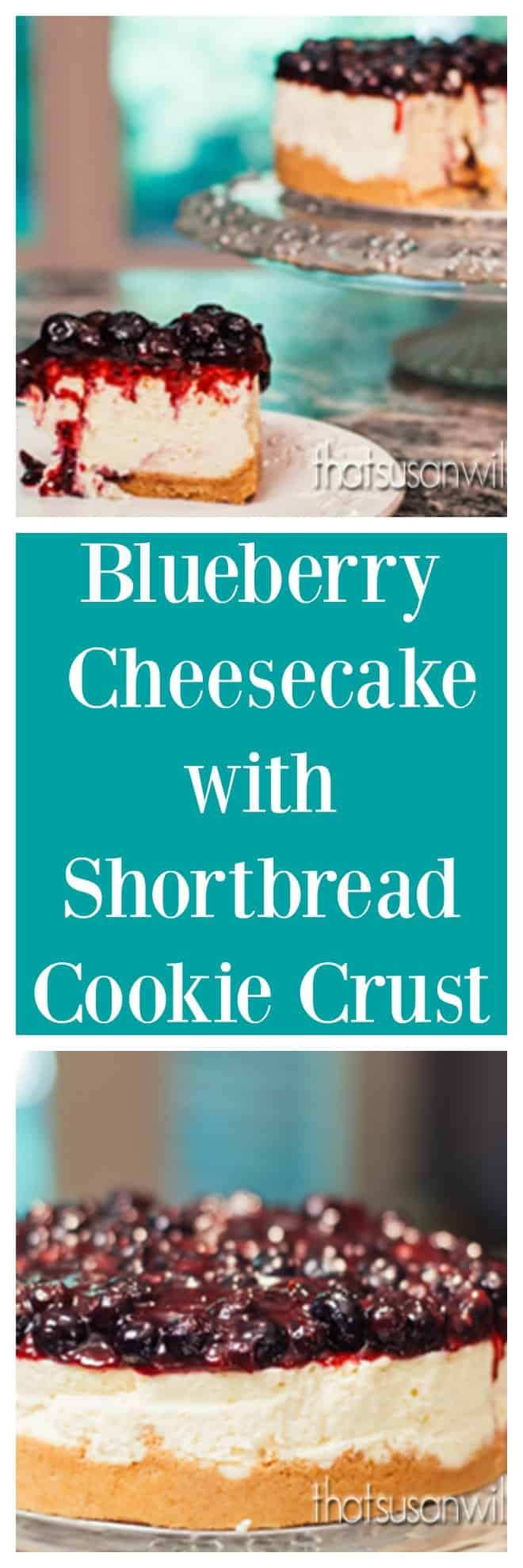 Blueberry Cheesecake with Shortbread Cookie Crust is the recipe for the perfectly ultimate summer dessert.