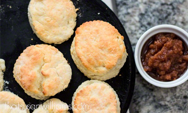 Slow Cooker Apple Butter and Homemade Biscuits