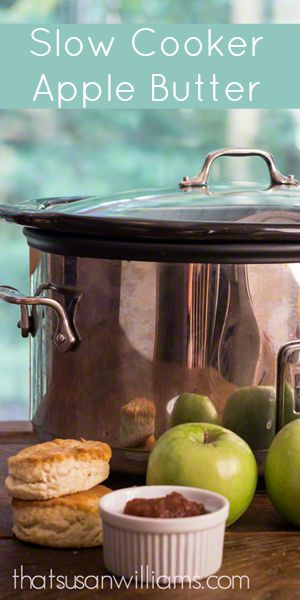 Slow Cooker Apple Butter #applebutter #applerecipes #slowcooker #homemade #fall #crockpot