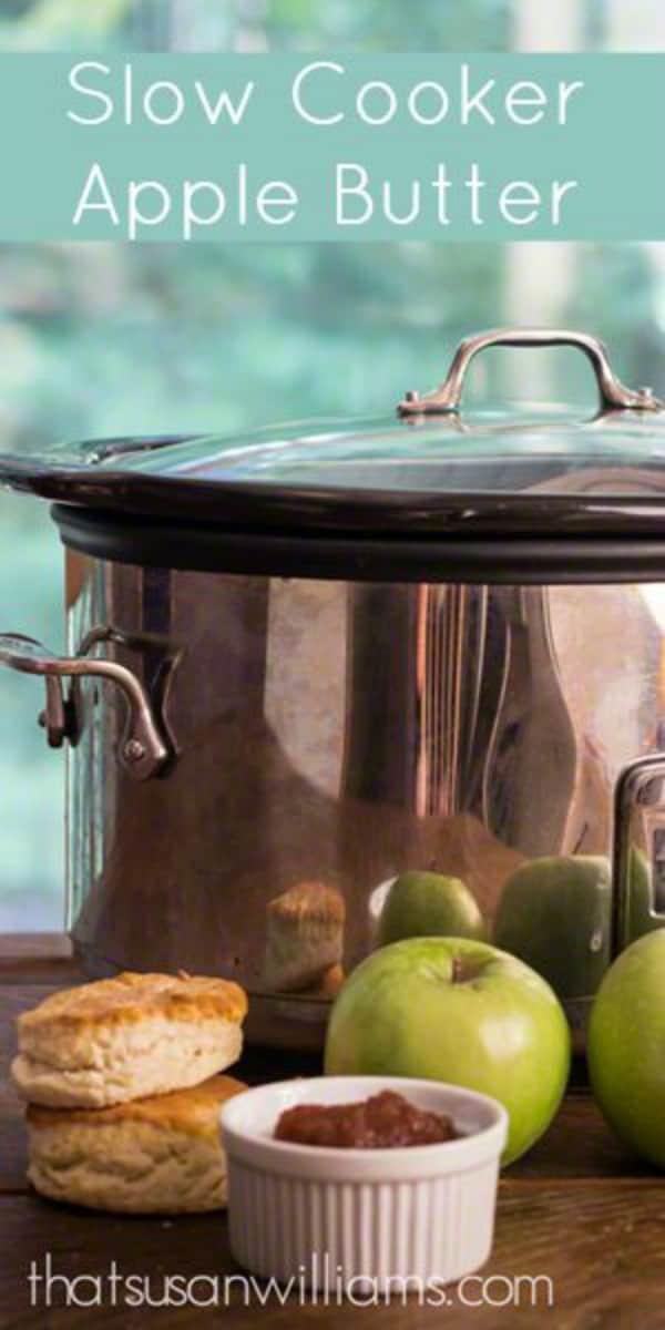 Slow Cooker Apple Butter #applebutter #applerecipes #slowcooker #homemade #fall #crockpot