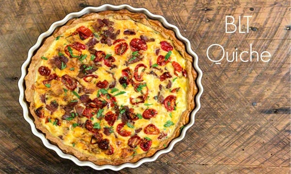 BLT Quiche: Bacon, Sautéed Leeks, and Roasted Tomatoes in a Crispy, Buttery Pastry