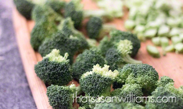 Broccoli: the trunks and the treetops