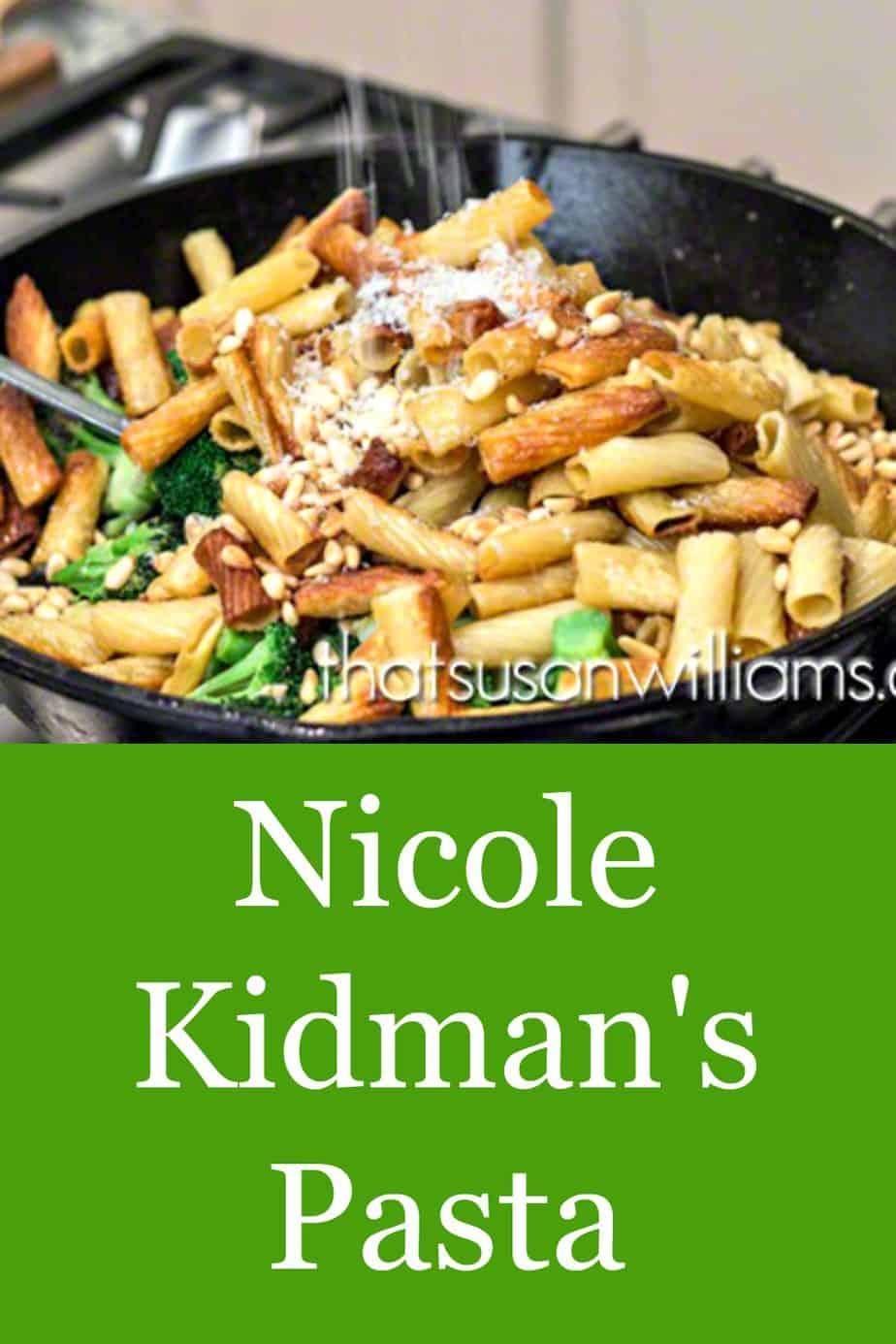 Sprinkling Parmigiano Reggiano on top of Nicole Kidman's Pasta