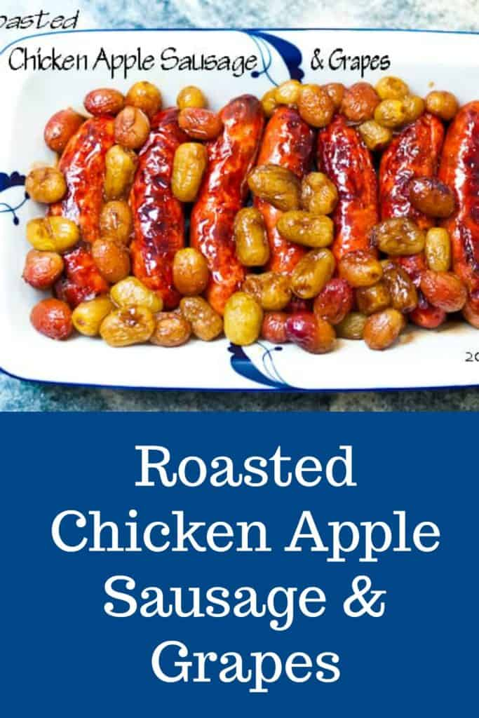 Roasted Chicken-Apple Sausage with Grapes