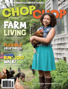 The fall cover of ChopChop Magazine