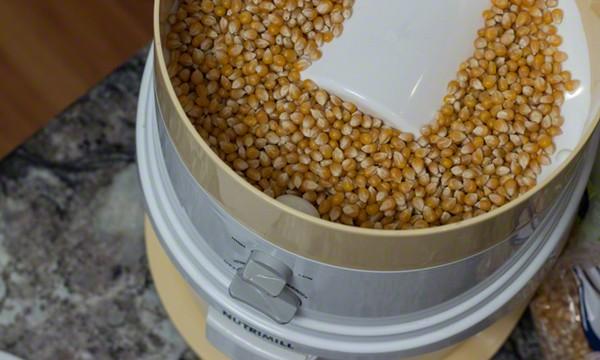 popcorn in grinder