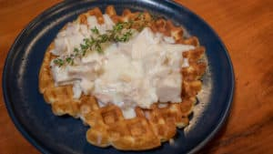 Waffles with Chicken Gravy
