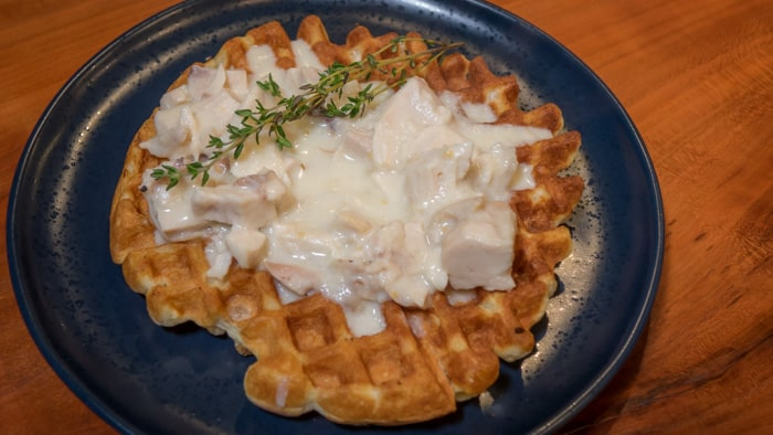Waffles With Chicken Gravy: a Perfect Recipe for Leftover Roast Chicken