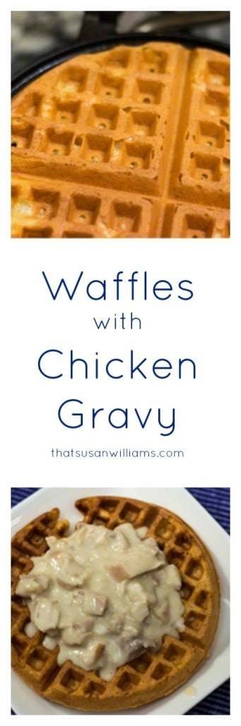 Looking for a frugal dinner idea? Something from scratch? Inspiration or a recipe for what to do with Leftover Roast Chicken?  Waffles with Chicken Gravy makes great use of leftovers, when you want more than breakfast for dinner. Learn how to make a béchamel sauce, too.