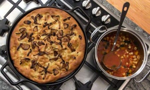 Foccacia with caramelized onions