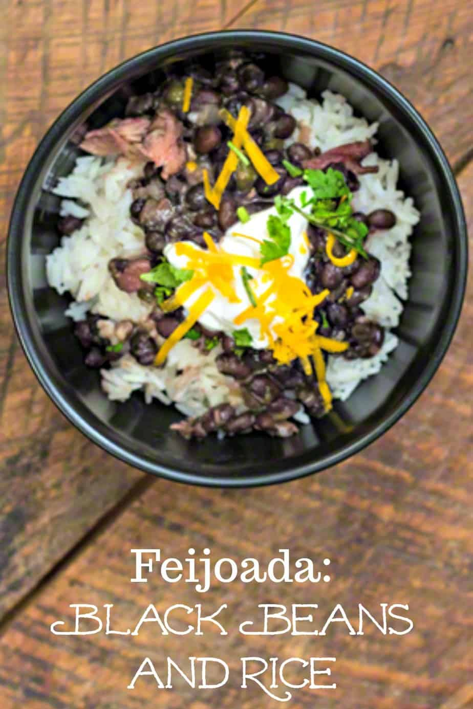 Feijoada, or, Brazilian Black Beans and Rice is the National Dish of Brazil. #blackbeans #Brazilian #recipe #frugal