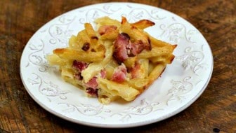 Viennese Noodles with Ham, Sour Cream, and Alpine Cheddar
