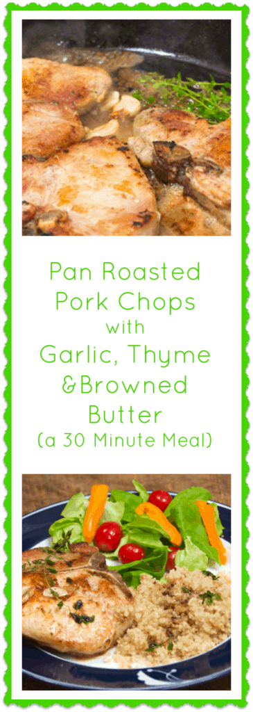 Pork Chops to create my own Everyday Meal Solution: Pan Roasted Pork ...