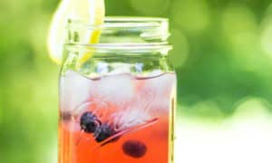 Looking for a blueberry recipe? Fresh Blueberry Lemonade is a perfect summer beverage!