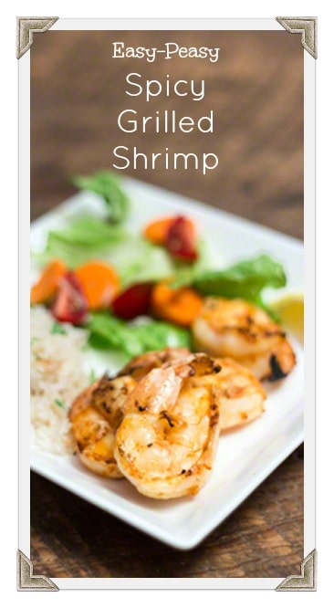 Easy-Peasy Spicy Grilled Shrimp #FreshFromFlorida, #IC, ad