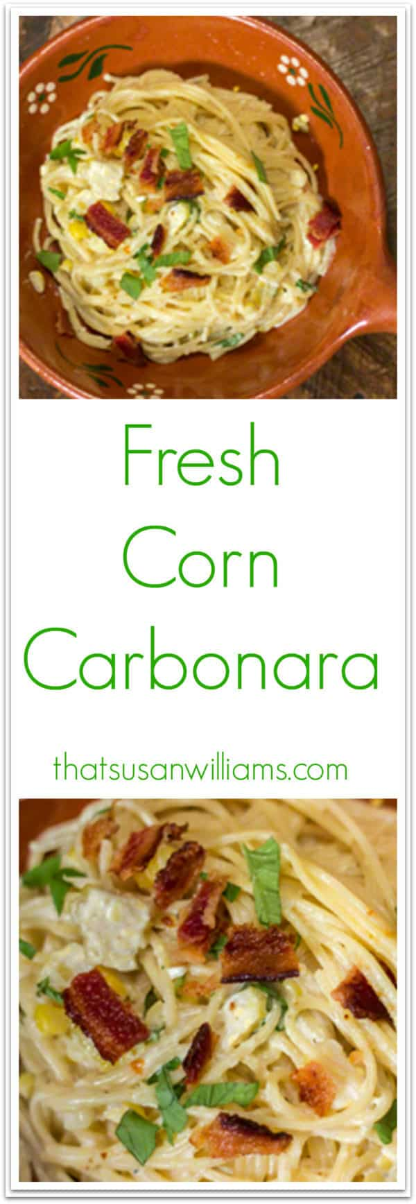 Fresh Corn Carbonara with a Quick Cleanup, using Scotch-Brite® Scrubbing Dish Cloth