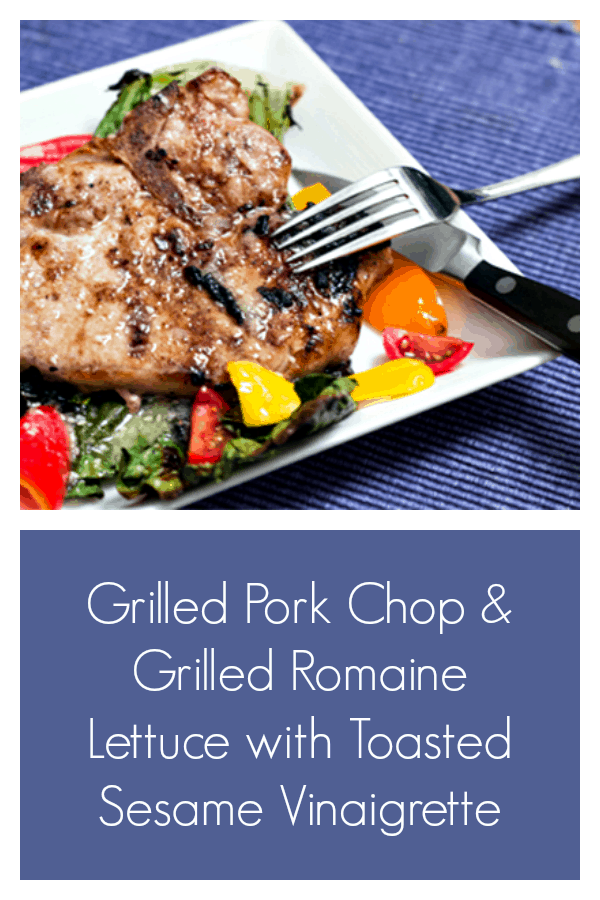 You'll be amazed by the delicious flavors of the grilled romaine lettuce, and the sesame vinaigrette. #grilledromaine #grilledsalad #grilling #grilledporkchop #grillporklikeasteak #30minutemeal
