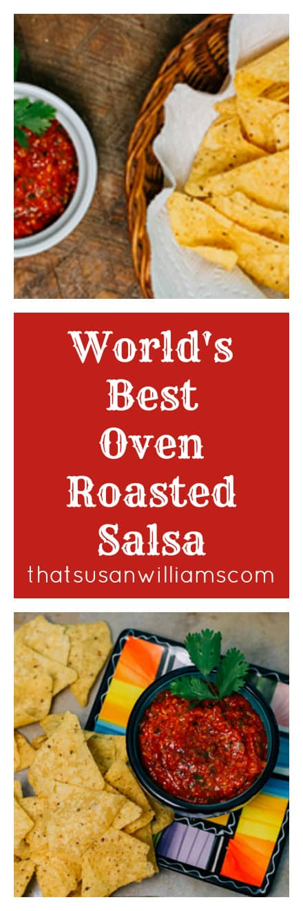 World's Best Oven Roasted Salsa is easy and delicious.