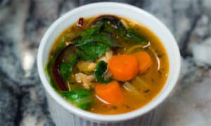 Flu-Fighter Soup: Chicken Soup with Greens and Garlic