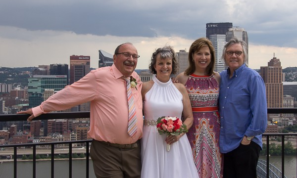 Just two old married couples, atop Mount Washington.