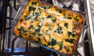 Holiday Breakfast Casserole with Alpine Cheddar: the perfect breakfast or brunch casserole when company's coming.