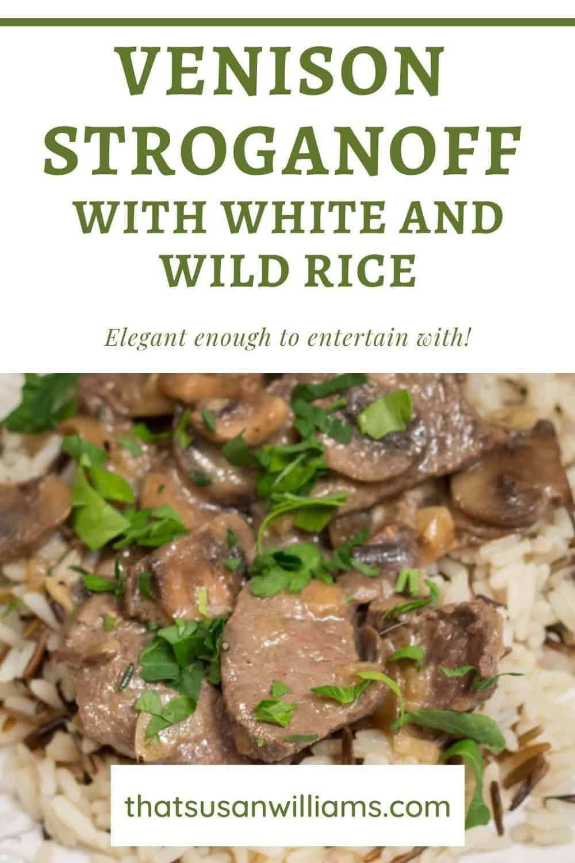 Venison Stroganoff with White and Wild Rice