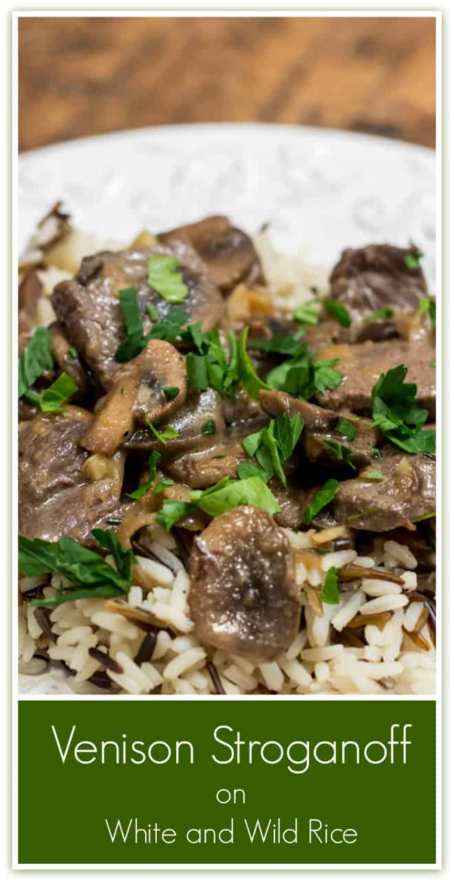 Venison Stroganoff on White and Wild Rice is all the proof you need that venison can be a gourmet meal.
