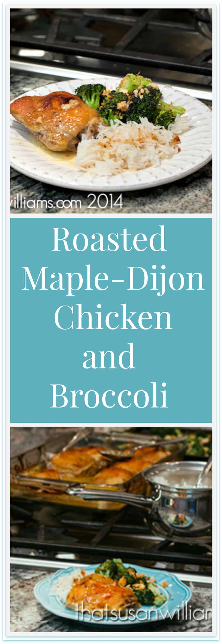 Roasted Maple Dijon Chicken with Roasted Broccoli is a great weeknight meal/Desperation Dinner!