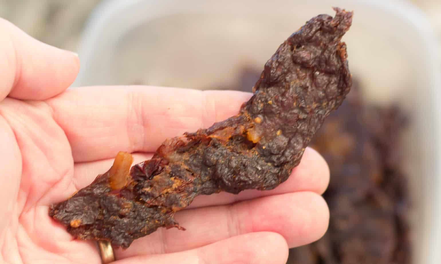 Homemade Venison Jerky: A delicious recipe for pemmican style homemade venison jerky that will please anyone looking for a high protein paleo friendly snack.