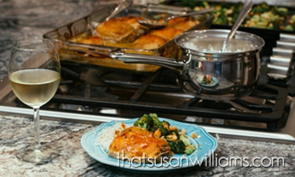 Maple Dijon Rosemary Chicken with Oven Roasted Broccoli