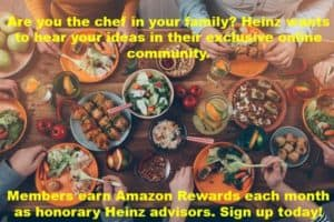 Earn Amazon Rewards from Heinz Online Community