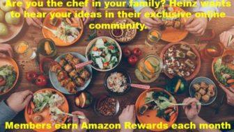 Earn Amazon Rewards from Heinz Online Community