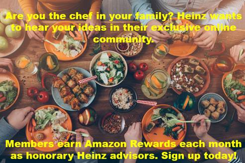 Earn gift codes in Kraft Heinz's exclusive online community by helping inspire future products #ad: