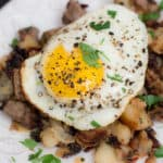 Leftover Steak Hash is the delicious solution to the problem of what to do with leftover cooked beef, when you don't have enough meat for a full meal.