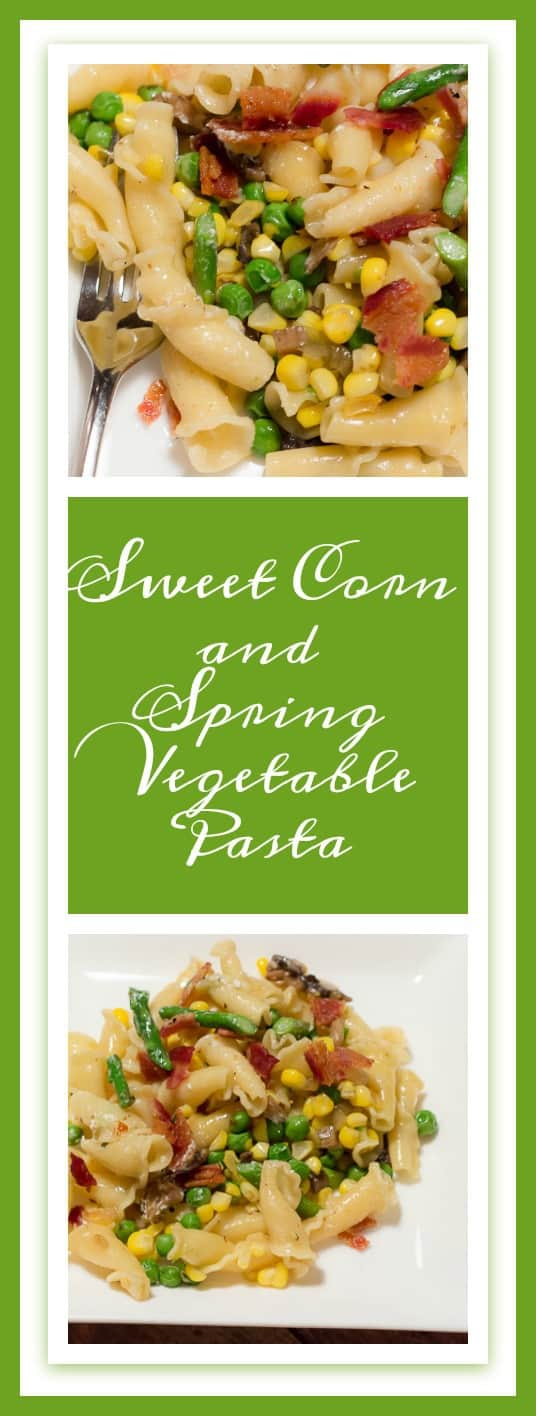 Sweet Corn and Spring Vegetable Pasta is a delicious, quick and easy recipe that is perfect for a weeknight meal. #SunshineSweetCorn #IC (ad)