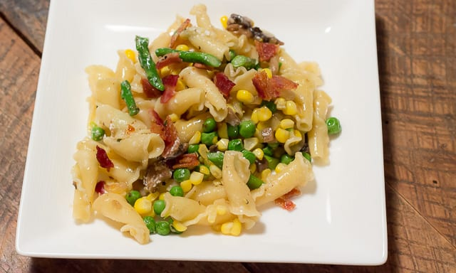 Sweet Corn and Spring Vegetable Pasta is a delicious, quick and easy recipe that is perfect for a weeknight meal.