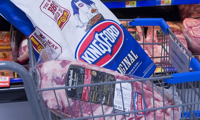 Smithfield Fresh Pork Extra Tender Spareribs, and our fuel for this meal: Kingsford Charcoal.