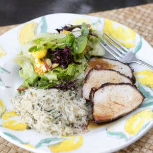 Smithfield Marinated Fresh Pork Loin Filet and Salad with Mango Recipe