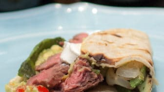 Grilled Skirt Steak Tacos with Roasted Poblanos