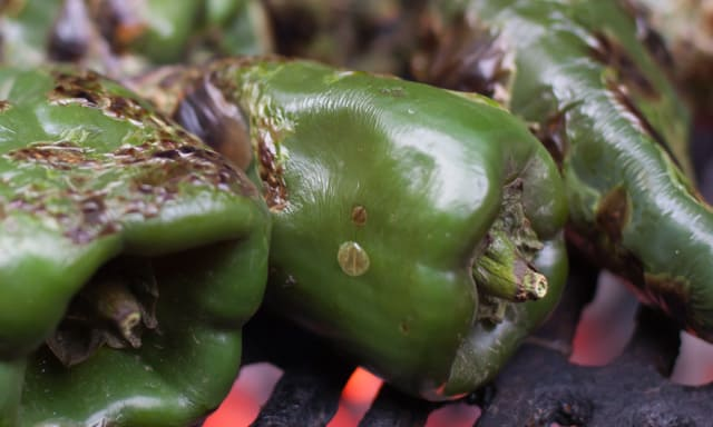 Grilled Skirt Steak Tacos with Roasted Poblanos is the perfect Cinco de Mayo Cookout Recipe.