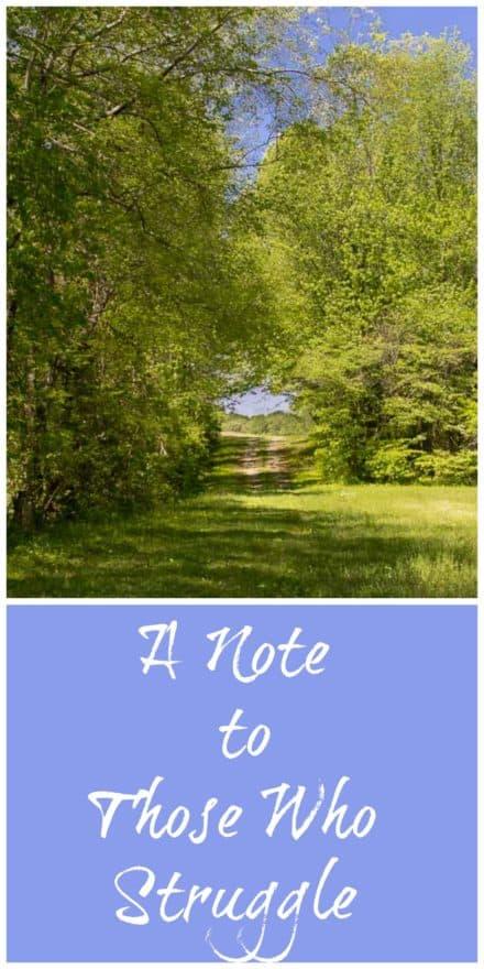 A Note to Those Who Struggle Along the Path