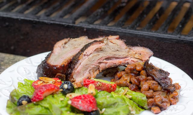 #GetGrillingAmerica Smithfield Extra Tender Back Ribs, Grilled, with Blueberry Barbecue Sauce Recipe