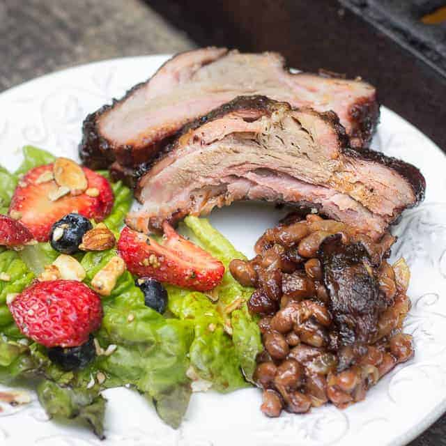 Grilled Baby Back Ribs with Blueberry Barbecue Sauce #grilling #blueberry #barbecuesauce #blueberrybarbecuesauce