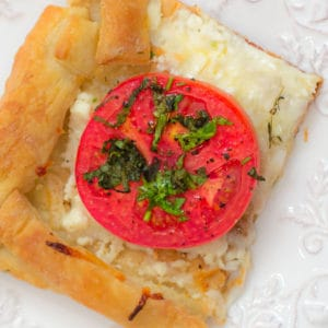Easy Herbed Tomato Tart on Puff Pastry