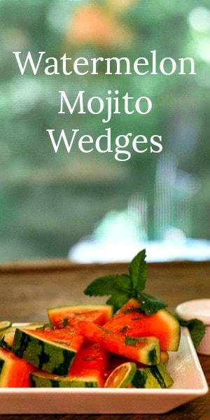 Watermelon Mojito Wedges are an easy, refreshing watermelon summer dessert recipe.