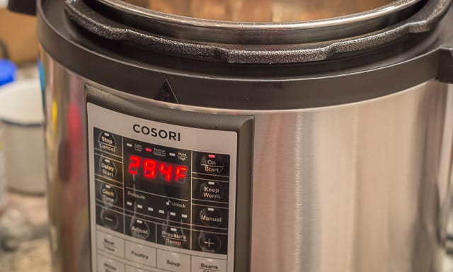A review of the 6 Quart Premium Cosori Pressure Cooker, and a delicious, easy, and quick recipe for Chicken Adobo in a pressure cooker, plus, a giveaway!
