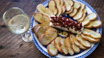 Goat Cheese with Sun-Dried Tomatoes Holiday Appetizer