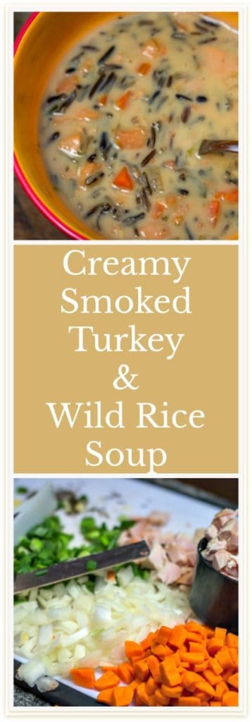 What to do with leftover turkey: Creamy Smoked Turkey and Wild Rice Soup