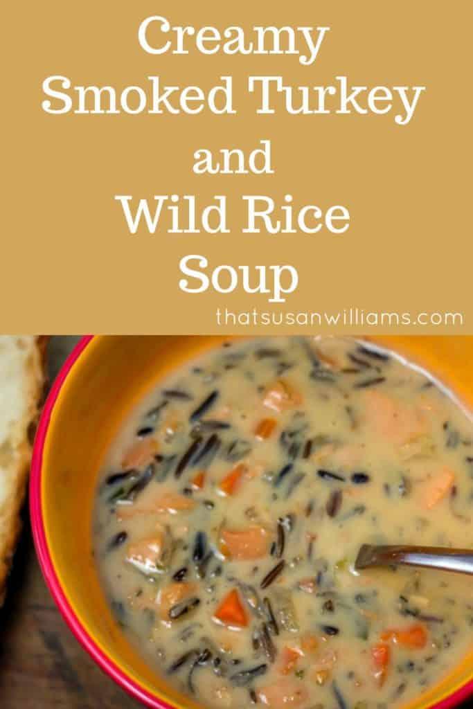 Creamy Smoked Turkey and Wild Rice Soup